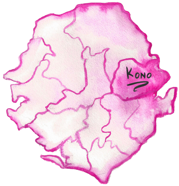 Sierra Leone Map Copyright Shine On Sierra Leone Kono